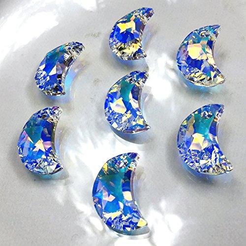 スワロフスキー6722/16 クリスタルAB 三日月型 SWAROVSKIチャーム アクセサリーパーツ ハンドメイド 手芸材料