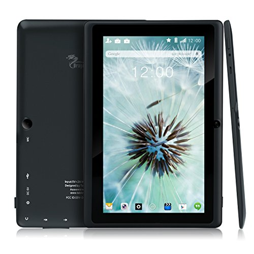 Dragon Touch Y88X Plus 7インチ タブレットPC クアッドコア Google Android 4.4 KitKat IPS液晶 ディスプレイ メモリ8 GB Bluetooth搭載 日本語対応(ブラック)、タブレットPC、タブレット、ipad、windowsタブレット