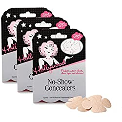 Hollywood Fashion Secrets No-Show Disposable Nipple Concealers, 15 pairs