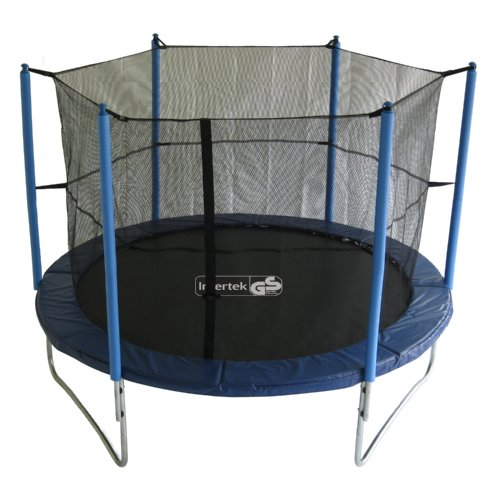 advendise trampolin 305 cm mit sicherheitsnetz bis 150kg. Black Bedroom Furniture Sets. Home Design Ideas