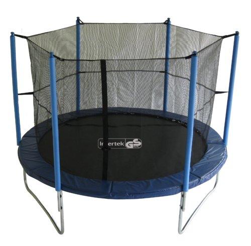advendise trampolin 305 cm mit sicherheitsnetz bis 150kg schwarz blau 305 cm reviews. Black Bedroom Furniture Sets. Home Design Ideas
