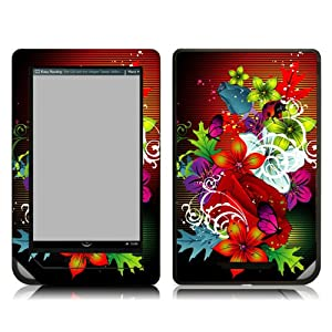 Bundle Monster Barnes & Noble Nook Color (NookColor) Ebook Vinyl Skin Cover Art Decal Sticker Protector Accessories - Retro Floral
