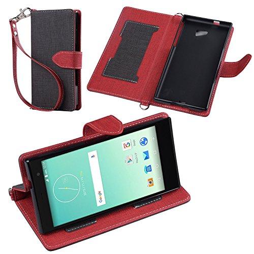 Jenny Desse HUAWEI P9 lite SIMフリー ケース 手帳型 カバー スタンド機能 カードホルダー ストラップ付き