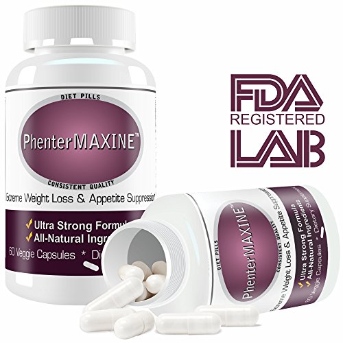 PhenterMAXINE Pharmaceutical Grade Quality Diet Pills Extra Strong Supplement for Rapid Weight Loss. Reduce Body Fat, Suppress Appetite