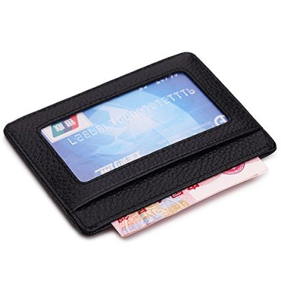 MEKU-Slim-Leather-Wallet-Credit-Card-Case-Sleeve-Card-Holder-With-ID-Window