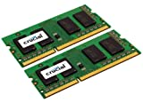 Crucial 8GB Kit (4GBx2) DDR3 1333 MT/s (PC3-10600) CL9 SODIMM 204-Pin Notebook Memory Modules CT2KIT51264BC1339