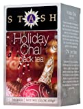 Stash Tea Holiday Chai Tea, 18 Count Tea Bags in Foil (Pack of 6)