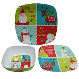 Product Image Holiday Icon Melamine Dinnerware Set of 12