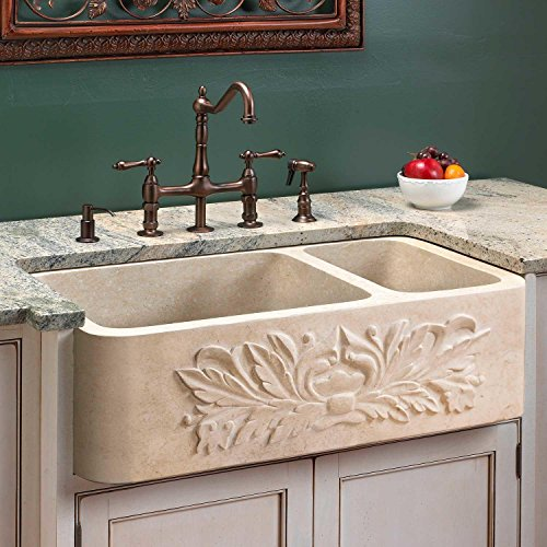 33 ivy 70 30 offset double bowl polished marble farmhouse sink white thassos check price trofimzxevseyev