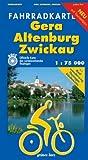 Gera - Altenburg - Zwickau 1 : 75 000 Fahrradkarte: Mit Radwanderweg Thüringer Städtekette. Mit Tourentipps. Offizielle Karte des ADFC-Landesverbandes Thüringen