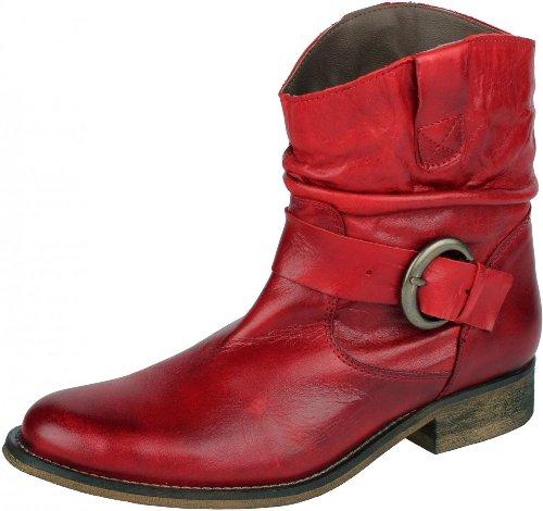 Original VISTA Stiefeletten für Damen aus Leder Fashion Style rot