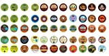 Crazy Cups Coffee, Tea and Cocoa Gift Sampler, Single-cup coffee pack sampler for Keurig K-Cup Brewers (55 K-Cups)