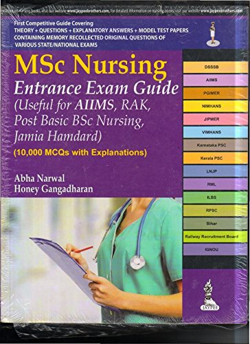 M.Sc Nursing Entrance Exam Guide (Useful for Aiims, Rak, Post Basic Bsc Nursing, Jamia Hamdard)