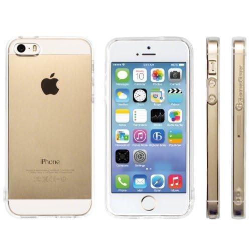Highend berry 【 iPhone 5 / 5s 】 2014年 モデル ストラップ ホール 保護キャップ 一体型 ソフト TPU ケース クリア