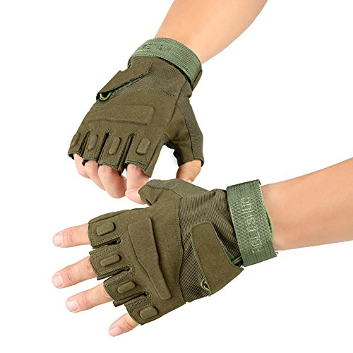 Military Fingerless Glove Tactical Airsoft Gym Workout
