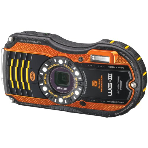 Pentax Optio WG-3 orange 16 MP Waterproof Digital Camera with 3-Inch LCD Screen (Orange)
