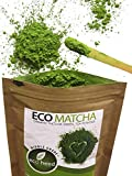 Matcha Green Tea Powder 1.05oz - 100% Certified Organic From Japan - Natural Energy & Focus Booster Packed With Antioxidants. Superior Culinary Grade Matcha Tea For Mixing In Lattes, Smoothies & Cooking Recipes By eco heed