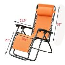 Outsunny Zero Gravity Recliner Lounge Patio Pool Chair,