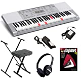 Casio LK-280 Keyboard HOME BUNDLE w/ Stand, Bench, Pedal & Headphones