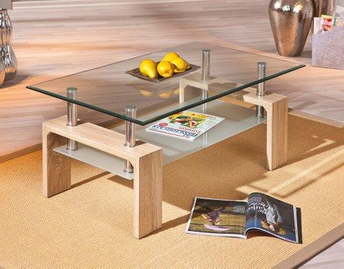 table basse verre metal pas cher