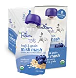 Plum Organics Tots Fruit and Grain Mish Mash, Blueberry, Oats and Quinoa, 3.17 Ounce Pouches (Pack of 12)