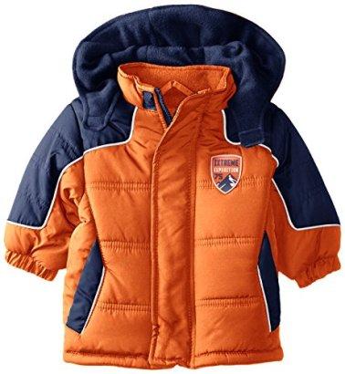 iXtreme-Baby-Boys-Newborn-Colorblock-Jacket-Orange-3-6-Months