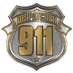 911 Dispatcher Shield Reflective Decal - 4 in. Decal