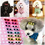 PET SHOW Heart Round Mixed Styles Sunglasses Girls Pet Cat Dog Hair Clips Small Dogs Grooming Hair Accessories With Lobster Clips Pack of 20