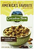 Cascadian Farm Granola Cereal, Organic Dark Chocolate Almond, 13.25 Ounce (Pack of 6)