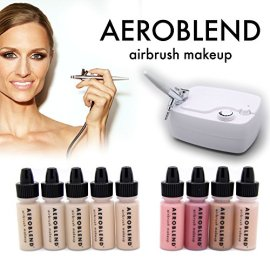 Aeroblend-Airbrush-Makeup-Personal-Starter-Kit-Professional-Cosmetic-Airbrush-Makeup-System-MEDIUM-Foundation-Color-Match-Guarantee-Full-1-Year-Warranty