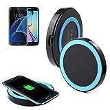 per Samsung Galaxy S7/S7 Edge,Internet Qi senza fili Caricabatterie Power Charger Pad (Blu)