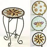 MOSAIK Tisch Star Mosaiktisch STERN Beistelltisch Gartentisch Blumentisch Blumensäule Gartendeko 35