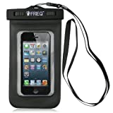 FRIEQ® Universal Waterproof Cell Phone Carrying Cases, For Apple iPhone 5s, 5, Galaxy S5, S4 S3, HTC One, Galaxy Note 3, MP3 Player - IPX8 Certified to 100 Feet