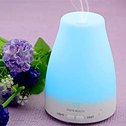 Essential Oil Diffuser for Aromatherapy - 100 ml Premium Essential Oil Cool Mist Humidifier with changing Colored LED Lights, Waterless Auto Shut-off and Adjustable Mist mode