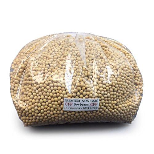 13-Pound Bulk Premium Soybeans, Gluten Free, Dairy Free, NON-GMO Beans For Soy Milk and Tofu