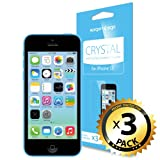 SPIGEN iPhone 5C Screen Protector Clear [Crystal] [3-PACK] **Value Pack** Premium Front Screen Protector - [LIFETIME WARRANTY]