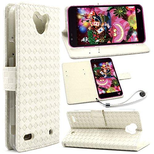 F.G.S Disney Mobile on docomo dm-02h ケース dm-02h カバー dm-02h 手帳型 保護ケース スタンド機能付き カードホルダ付き ストラップ付き クリーム色 F.G.S正規代理品