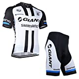 2014 Outdoor Sports Pro Team Men's Short Sleeve Giant Shimano Cycling Jersey and Shorts Set