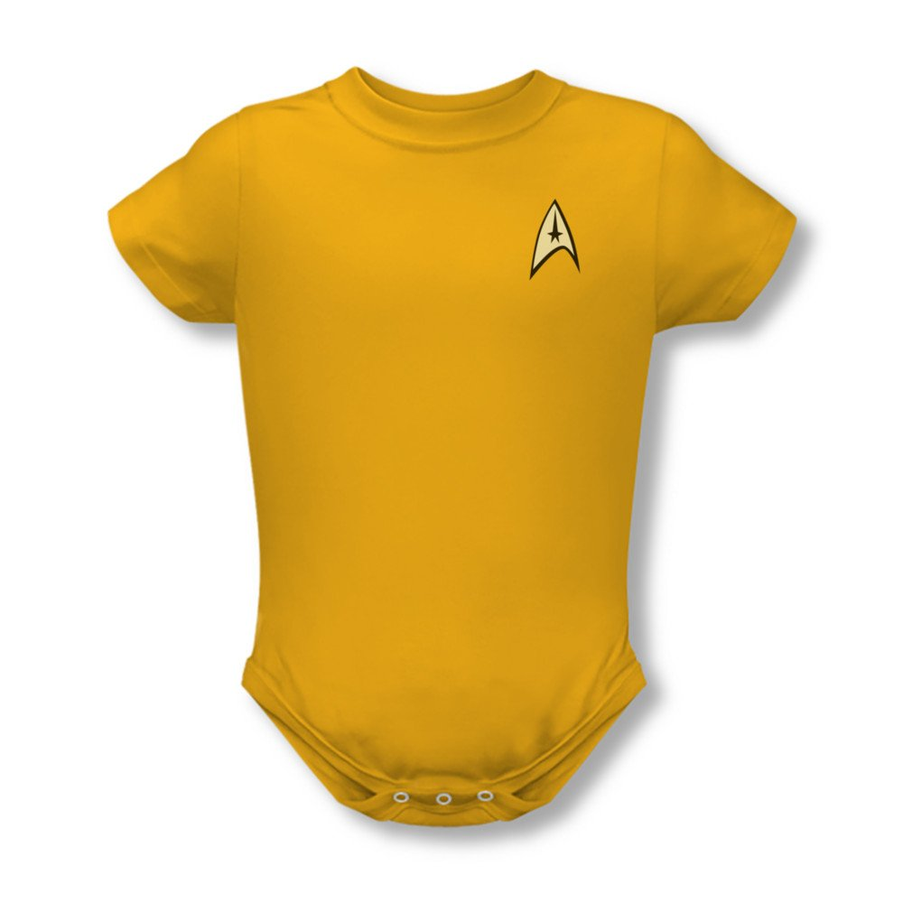 Star Trek Command Uniform Gold Infant Onesie Snapsuit