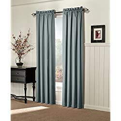 Sun Zero Alec Thermal Lined Microfiber Curtain Panel, 42 by 84-Inch, Mineral