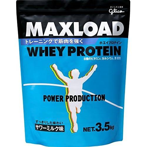 グリコパワープロダクションマックスロードホエイプロテインサワーミルク味3.5kg