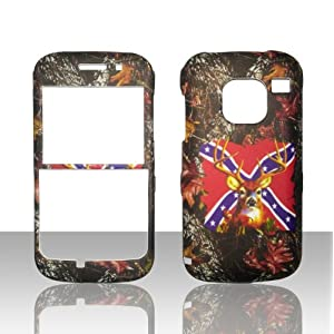 Camo Rebal Flag Stem Nokia Straight Talk E5 3G Smart Phone Case Cover Hard Phone Case Snap-on Cover Rubberized Touch Faceplates