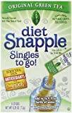 Diet Snapple Singles To Go Green Tea, 6-Count, Pack of 12