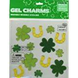 Shamrocks & Horseshoes St Patricks' Day Glitter Gel Window Clings