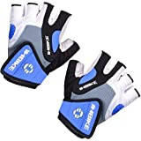 Inbike 5mm Gel Pad Half Finger Bike Bicycle Cycling Gloves (Blue, Medium)