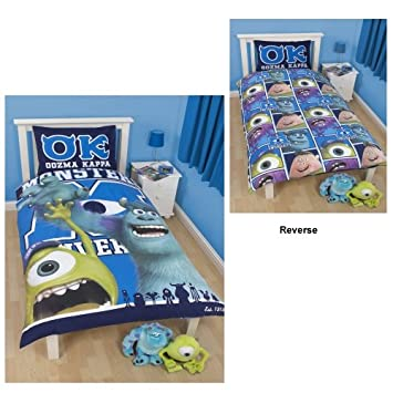 Monsters Inc 'University' Reversible Duvet Cover With Pillowcase Set