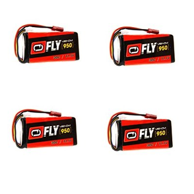 Venom-Fly-30C-3S-950mAh-111V-LiPo-Battery-with-JST-Plug-x4-Pack-Combo-Compare-to-E-flite-EFLB0998