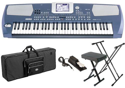 Korg Pa500 Arranger BUNDLE w/ Keyboard Bag, Stand, Bench & Pedal