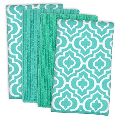 DII Cleaning, Washing, Drying, Ultra Absorbent, Lattice Microfiber Dishtowel 16x19
