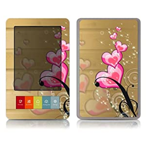 Bundle Monster Barnes & Noble Nook (Fit Nook Black & White Model Only) Ereader Vinyl Skin Cover Art Decal Sticker Protector Accessories - Pink Hearts